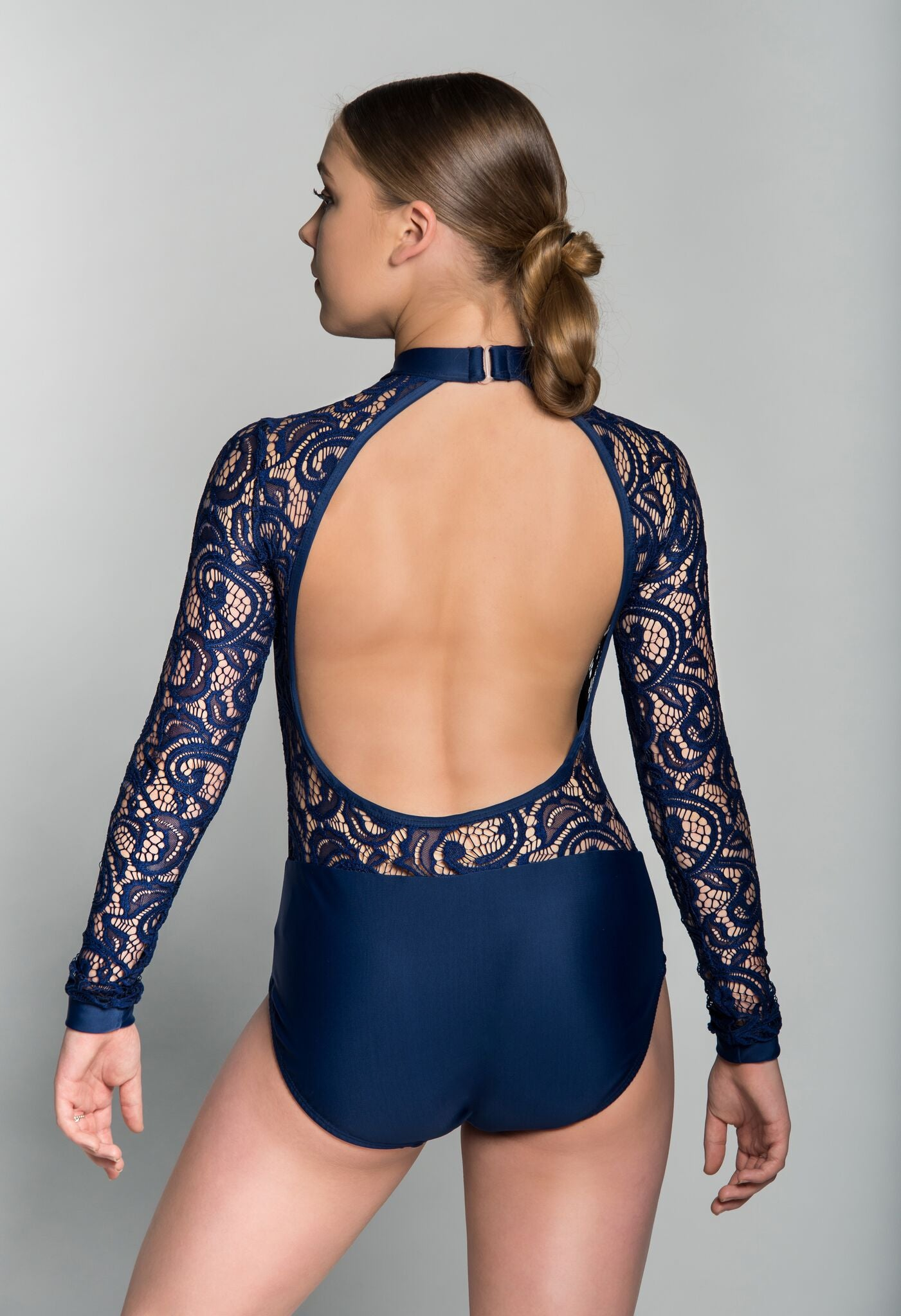 ASHTON CHILD LEOTARD: LONG SLEEVE LACE