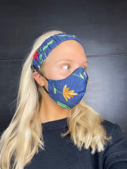 A-ADULT HEADBAND AND MASK SET