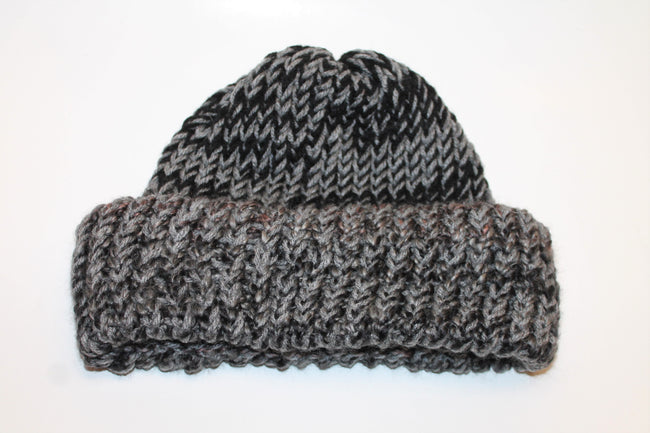 Black and Grey Beanie- Adult/Teen