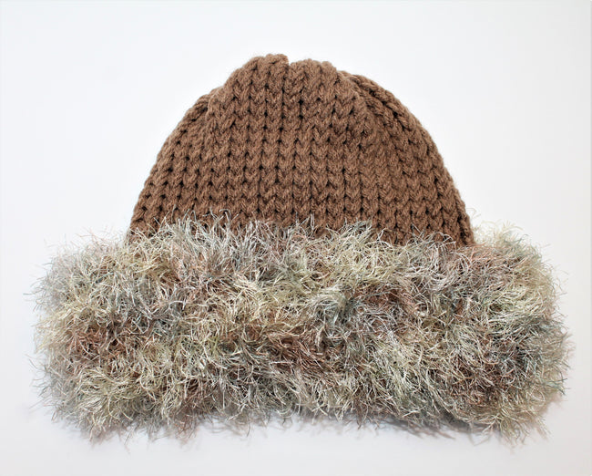 Brown Handmade Beanie- Adult/teen
