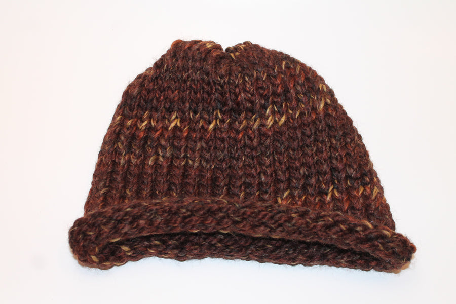 Brown speckled beanie- Adult/teen