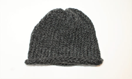 Charcoal Gray Handmade Beanie- Adult/teen