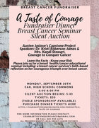 A TASTE OF COURAGE: DINNER, SEMINAR & AUCTION