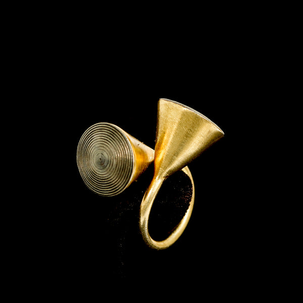 Gold Cone Ring