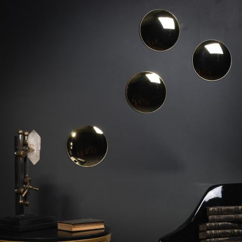 "7"" Hanging Gold Convex Mirror"