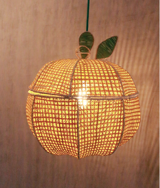 Orange Tropical Lamp