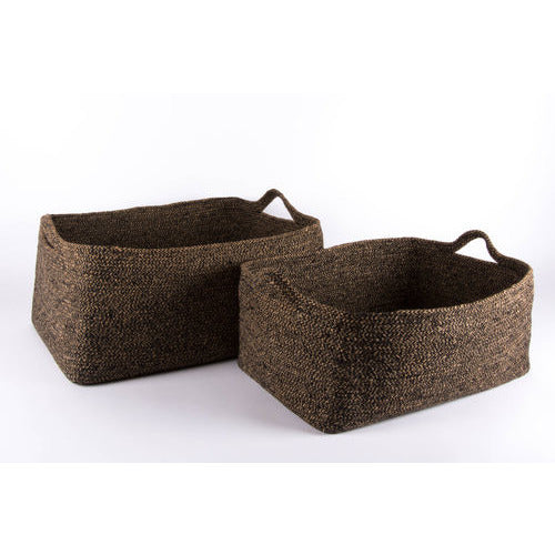 Brown Newspaper Basket (Set of 2)