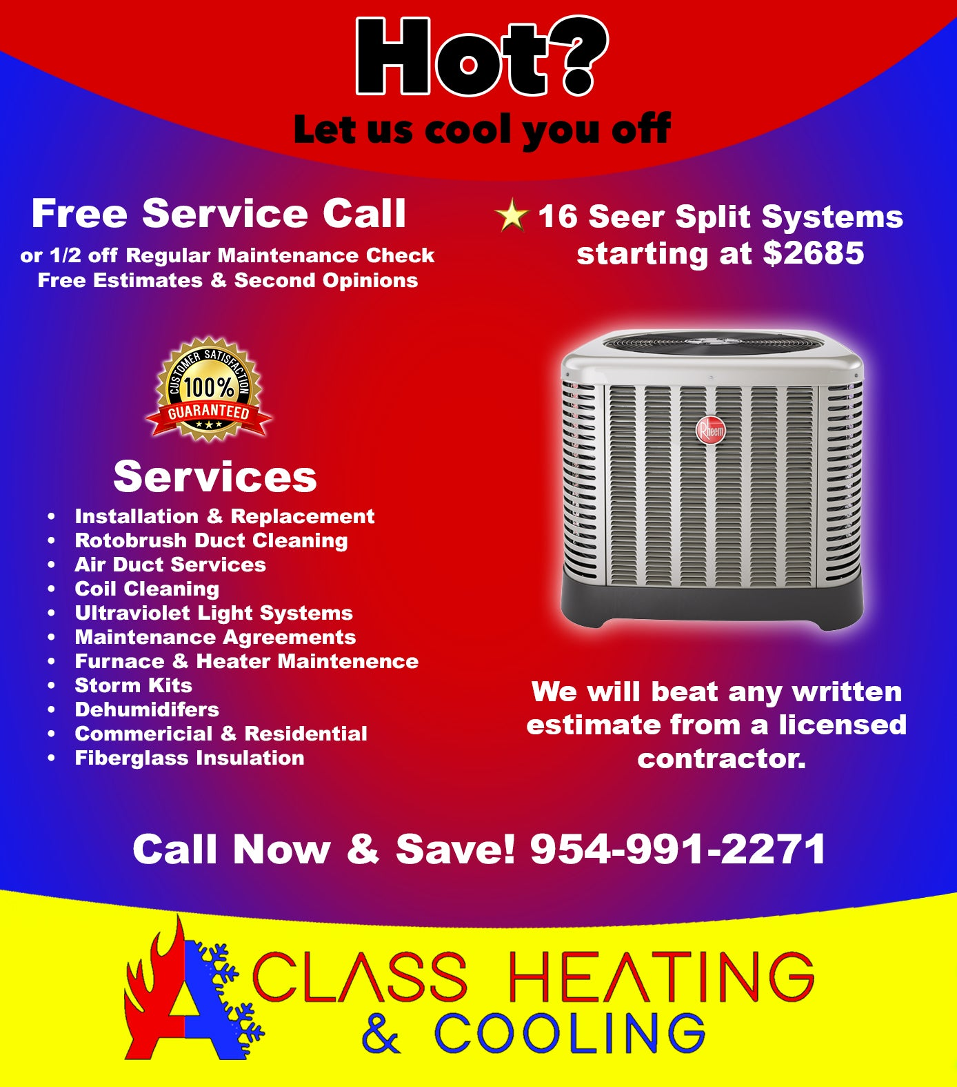 HVAC Deals in Florida by A Class Heating & Cooling