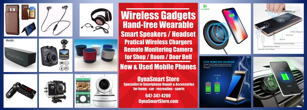 Wireless gadgets, charging, speakers, headset, car speakerphone, monitoring camera etc.