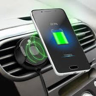 Car air vent wireless charger with holding clip