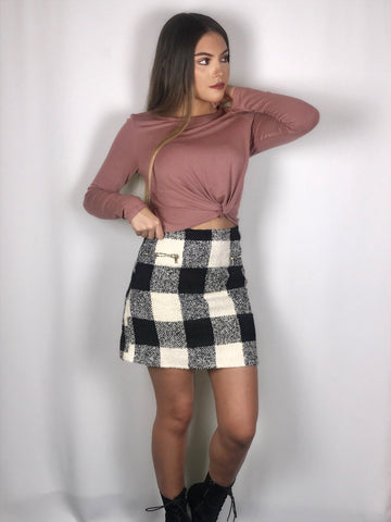 Raquel Plaid Skirt