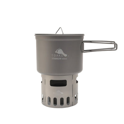 TITANIUM ALCOHOL STOVE AND 900ML POT COOK SYSTEM