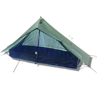 Deschutes Zero-G Dyneema Ultralight Tarp With Door Open and Serenity NetTent inside
