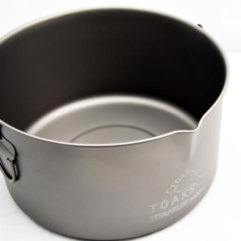 TITANIUM 2000ML POT WITH BAIL HANDLE
