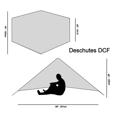 Specifications for Deschutes Zero-G Dyneema Shelter