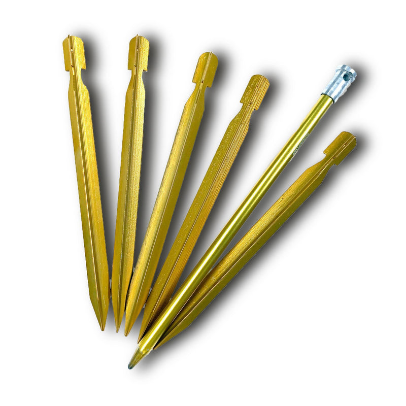 Six Moon Designs Stake Set Single - 6 Stakes (1 longer and 5 shorter)