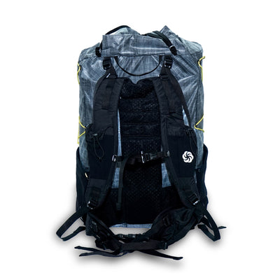 Gray Six Moon Designs Swift X Ultralight Backpacking pack rear