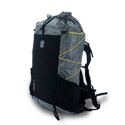 Gray Six Moon Designs Swift X Ultralight Backpacking pack corner