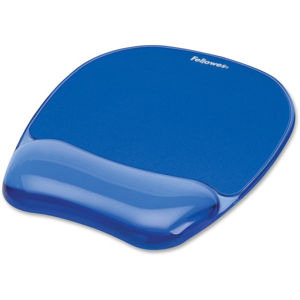 Fellowes Crystals® Gel Mousepad/Wrist Rest - Blue (91141)