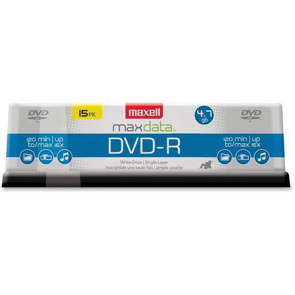 Maxell DVD Recordable Media - DVD-R - 16x - 4.70 GB - 1 Pack Spindle (638006)