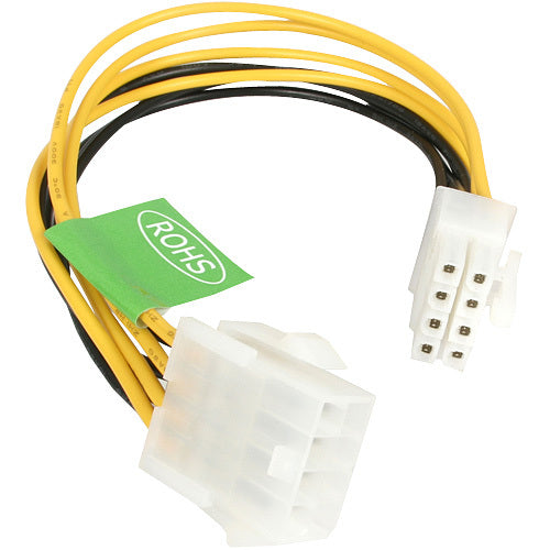 StarTech.com 8in EPS 8 Pin Power Extension Cable (EPS8EXT)
