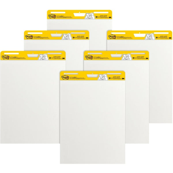 Post-it Self-Stick Easel Pads Value Pack, 25 in x 30 in, White (559 VAD 6PK)