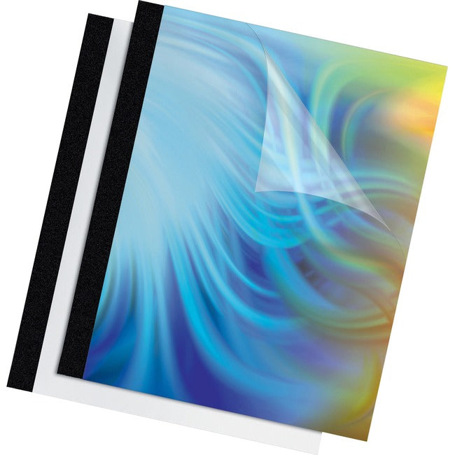 "Fellowes Thermal Presentation Covers - 1/2"", 120 sheets, Black (5256601)"