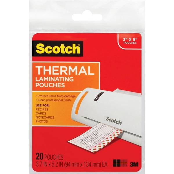 Scotch Thermal Laminating Pouches (TP5902-20)
