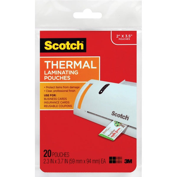 Scotch Thermal Laminating Pouches (TP5851-20)