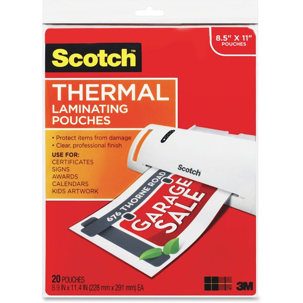 Scotch Thermal Laminating Pouches (TP3854-20)