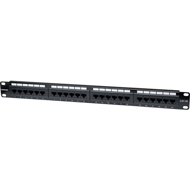 Intellinet Network Solutions 24-Port Rackmount Cat5e UTP 110/Krone Patch Panel, 1U (513555)