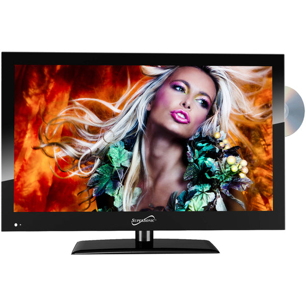 "Supersonic 18.5"" 720p LED TV/DVD Combination, AC/DC Compatible with RV/Boat (SC-1912)"
