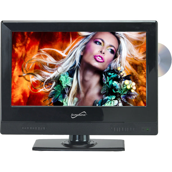 "Supersonic Supersonic 13.3"" 720p Widescreen LED HDTV/DVD Combination, AC/DC Compatible with RV/Boat (SC-1312)"