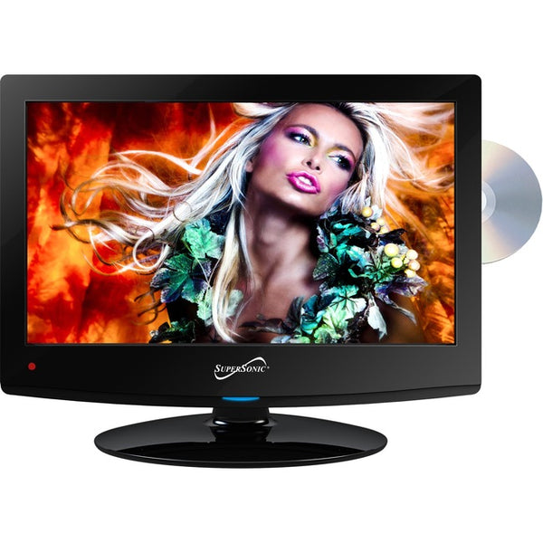 "Supersonic 15.6"" 720p LED TV/DVD Combination, AC/DC Compatible with RV/Boat (SC-1512)"
