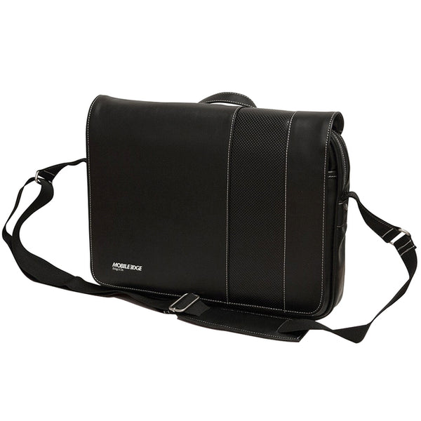 "Mobile Edge Slimline Carrying Case (Messenger) for 14.1"" Ultrabook - Black, White (MEUTSMB5)"