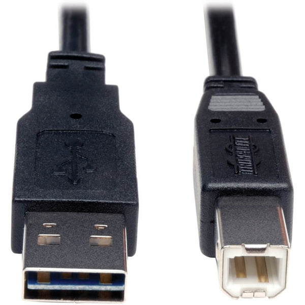 Tripp Lite 3ft USB 2.0 High Speed Cable Reverisble A to B M/M (UR022-003)