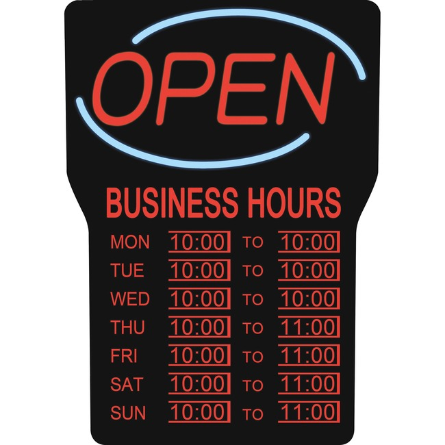 Royal Sovereign Business Hours Open Sign (RSB-1342E)