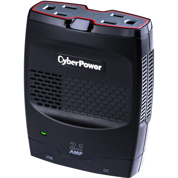 CyberPower CPS175SURC1 Mobile Power Inverter 175W with 2.1A USB Charger - Slim Line Design (CPS175SURC1)