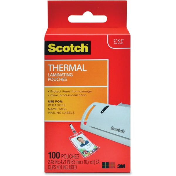 Scotch Thermal Laminating Pouches (TP5852-100)