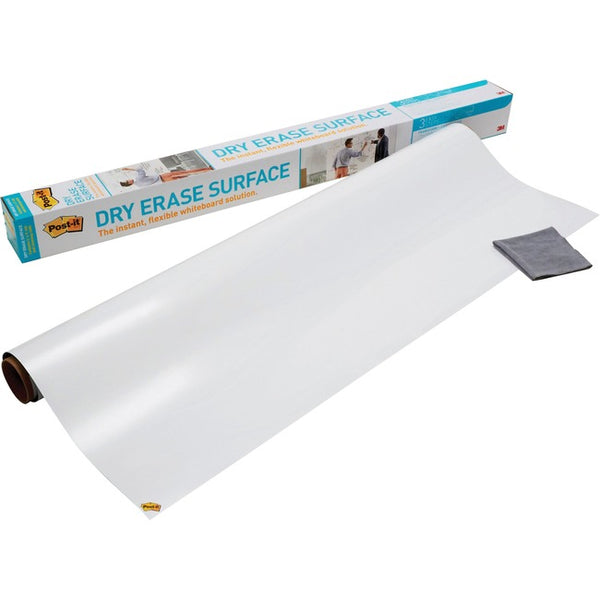 3M - WORKSPACE SOLUTIONS Post-it Self-Stick Dry Erase Film Surface, 36 x 24, White (DEF3X2)