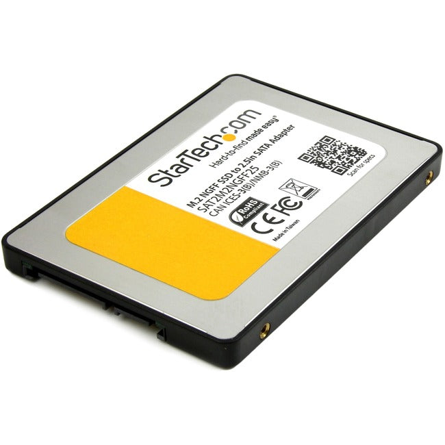 StarTech.com M.2 SSD to 2.5in SATA III Adapter - M.2 Solid State Drive Converter with Protective Housing (SAT2M2NGFF25)
