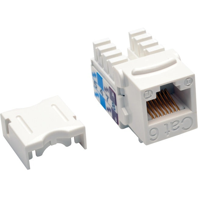 Tripp Lite Cat6/Cat5e 110 Style Punch Down Keystone Jack - White, 25-Pack (N238-025-WH)