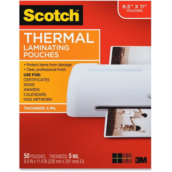 Scotch Thermal Laminating Pouches (TP5854-50)