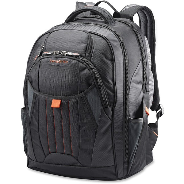 "Samsonite Tectonic 2 Carrying Case (Backpack) 17"" Notebook - Black, Orange (66303-1070)"