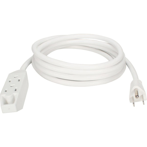 Qvs 3Out 3-Prong 10Ft Power Extension Cord (PC3PX-10WH)