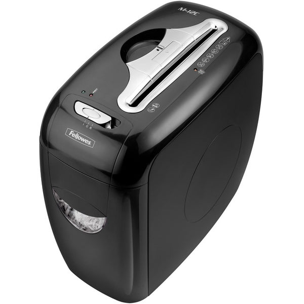 12-Sheet Cross-Cut Shredder With 4-Gallon Pull-Out Waste Bin. Includes Safesense