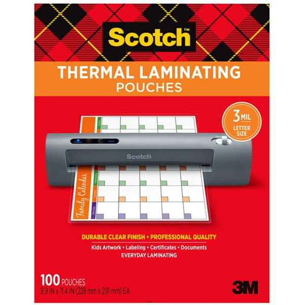 Scotch Thermal Laminating Pouches (TP5854-100)