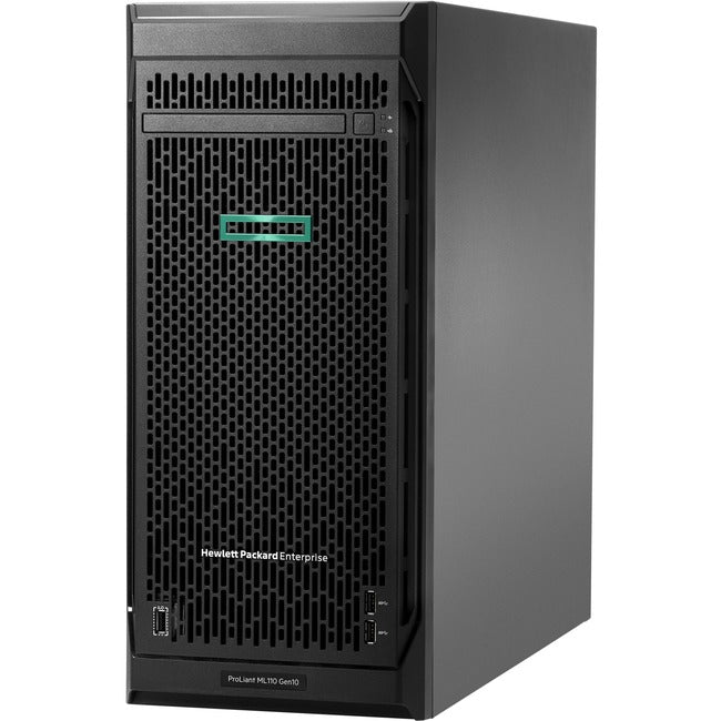 HPE ProLiant ML110 G10 4.5U Tower Server - 1 x Xeon Silver 4108 - 16 GB RAM HDD SSD - Serial ATA/600 Controller (P03686-S01)