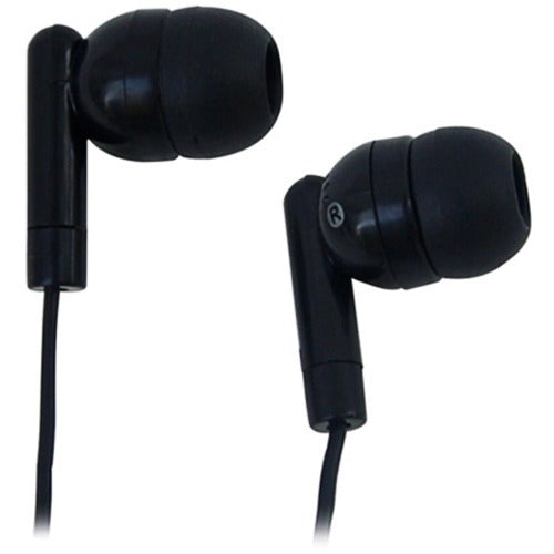 AVID AE-215 LIGHTWEIGHT 1 USE EARBUD WITH SILICONE EAR TIPS (1AE215HPBLKSTK)