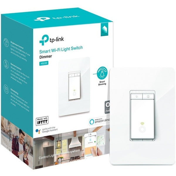 TP-LINK Kasa Smart Wi-Fi Light Switch, Dimmer (HS220)